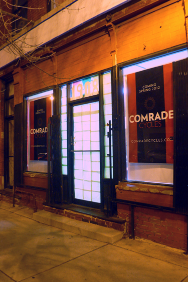 Comrade Cycles storefront